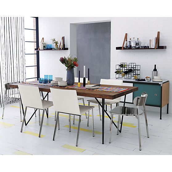 108 best warm industrial images on pinterest warm for Dining room tables 36 x 54