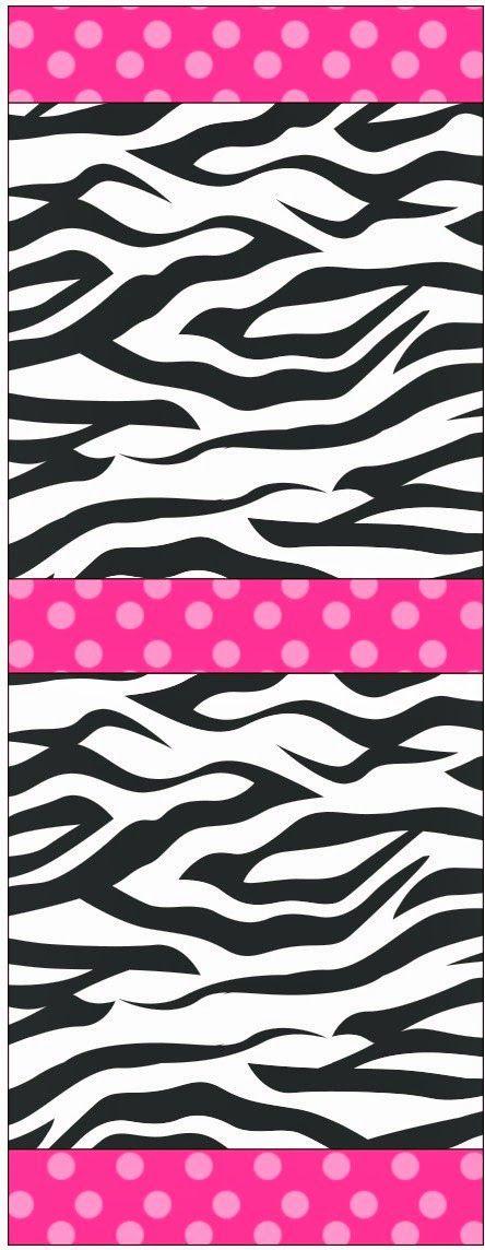 Cebra y Rosa: Etiquetas para Candy Bar para Imprimir Gratis.