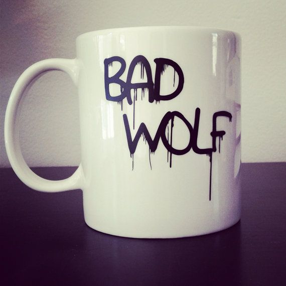 Doctor Who Bad Wolf coffee mug by SimplyGlassic on Etsy, $10.00