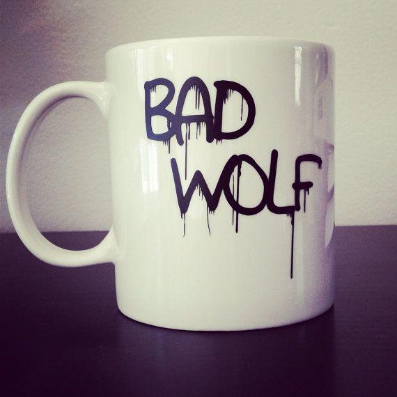 Bad Wolf coffee mug by SimplyGlassic on Etsy, $10.00