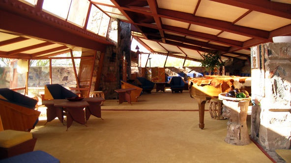 Taliesin West Frank Lloyd Wright S Living Room In All