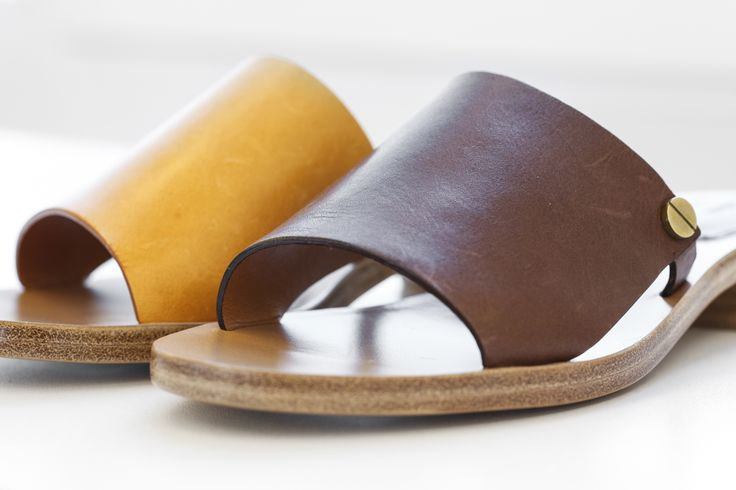 The latest Spring/Summer Collections from Chloé were inspired from the work of an architect. As cited from Vogue.com, they write that Waight Keller was thinking how to construct a leaner look but imbue it with softness.  #Chloé #spring #summer #2015 #ss #sandals #brown #yellow