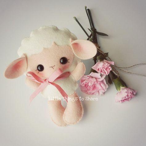 Baby Sheep-PDF pattern-Felt Lamb-DIY by LittleThingsToShare