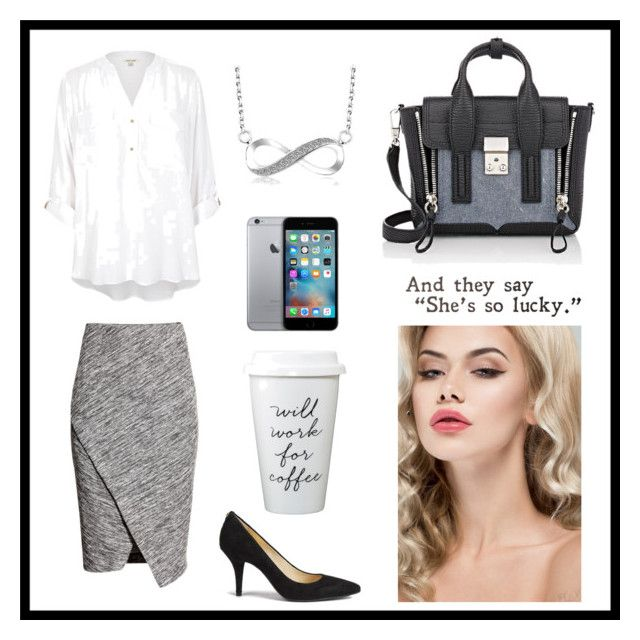So Lucky by rosehage on Polyvore featuring polyvore, fashion, style, River Island, H&M, MICHAEL Michael Kors, 3.1 Phillip Lim, women's clothing, women's fashion, women, female, woman, misses and juniors