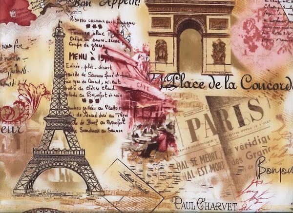 Картинки парижа для декупажа