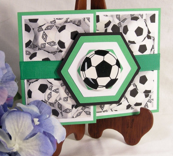 Soccer birthday card