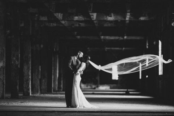 A romantic moment between the newly married couple.   The Carrs Photography