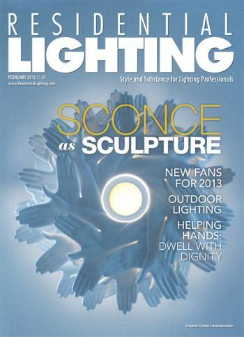 Our February 2013 Cover Features The Bird In Hand Suspension Light Designed  By J.P. Meulendijks For