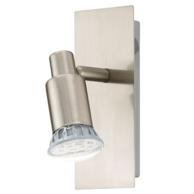 the eridan single led spotlight has a 5 watt led in warm white the eridan has a satin nickel finish the light comes with - Spotlight Kitchen Lights