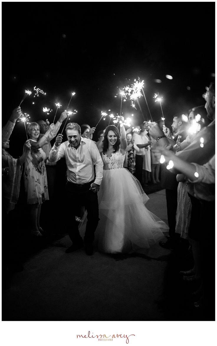 Wedding sparkler photos - Sparkler Exit - Melissa Avey Photography #sparklers #wedding