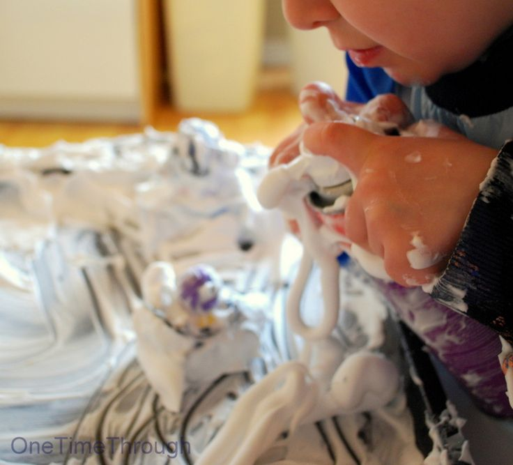 shaving cream play