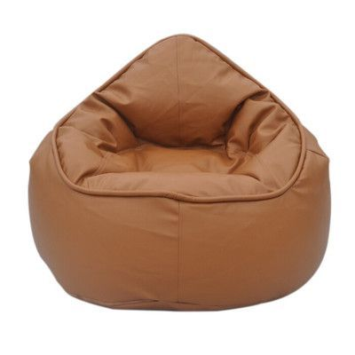 Modern Bean Bag The Pod Chair Upholstery Tan