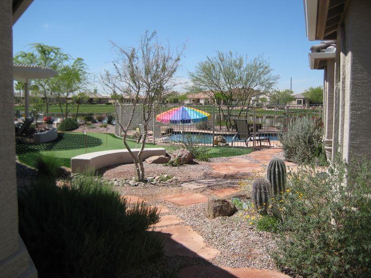 desert landscape ideas with pool