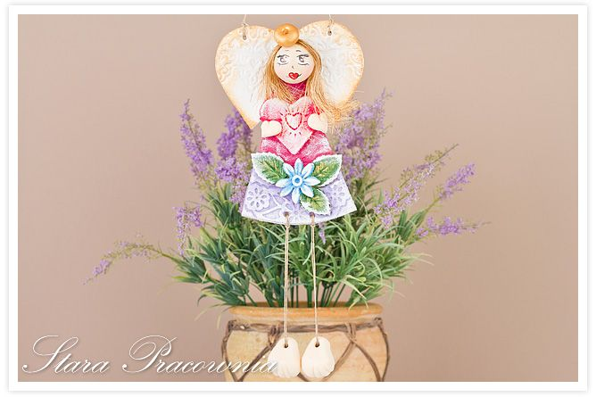 aniołek z masy solnej, salt dough angels, salt dough craft, aniołki z masy solnej, anioły z masy solnej, masa solna, figurka z masy solnej,  www.starapracownia.blogspot.com