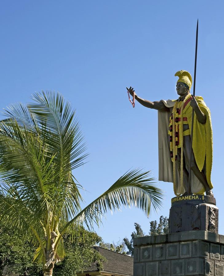 King Kamehameha Statue. Kapaau, The Big Island, Hawaii