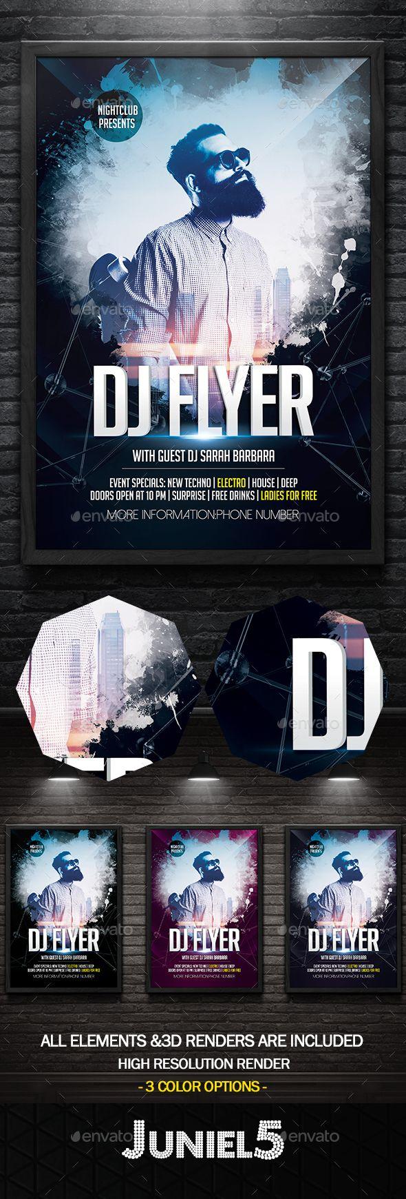 DJ Flyer Template PSD. Download here: http://graphicriver.net/item/dj-flyer/16244996?ref=ksioks