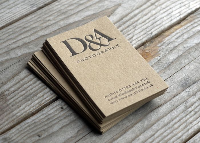 25 best eco business cards images on pinterest business cards business card on kraft reheart Gallery