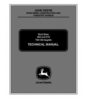Download John Deere 260 and 270 Skid Steer Service Manual ... on