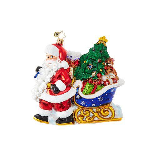 Christopher Radko Ornaments | Radko Santa Claus Luge Full of Gifts 1018907