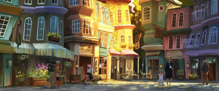 """Cafe Courtyard"" by Kristy Kay* • Blog/Website 