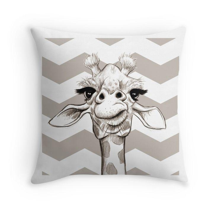 Sketch Giraffe Throw Pillow By Jonthomson Giraffe