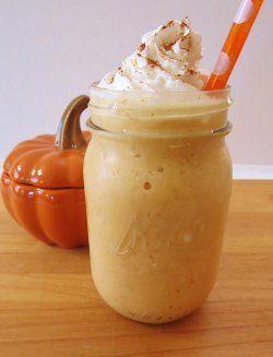 Homemade Pumpkin Spice Frappe | AllFreeCopycatRecipes.com