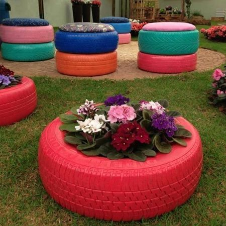 25 best ideas about tyre garden on pinterest tyres recycle old tires and recycled yard art - Garden ideas using old tires ...
