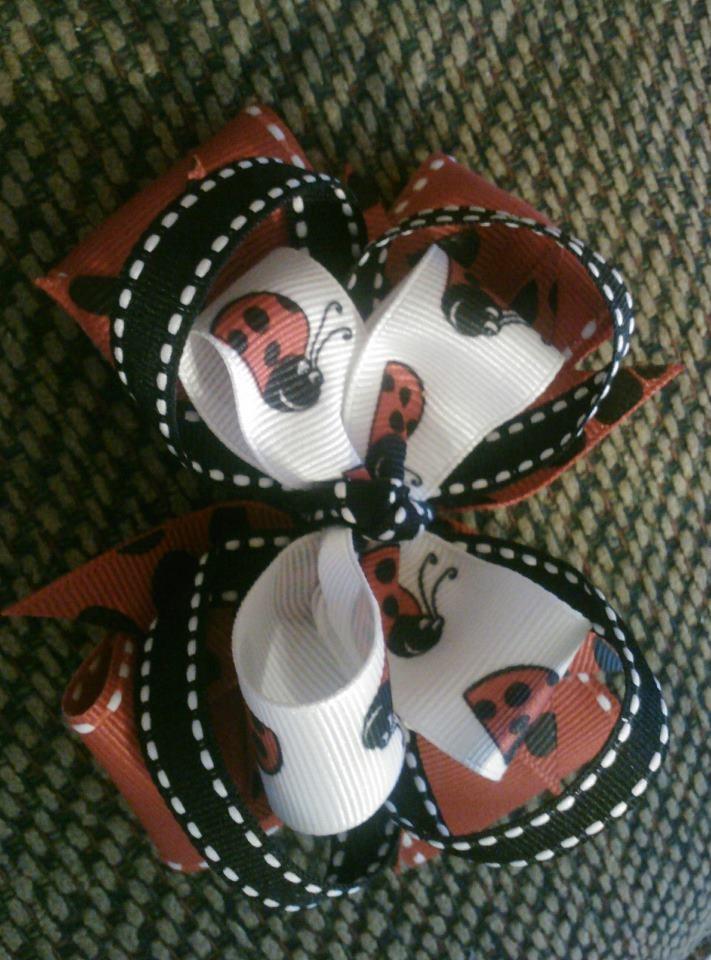 Ladybug OTT bow $8  https://www.facebook.com/pages/Tutu-Cute/171729329580274