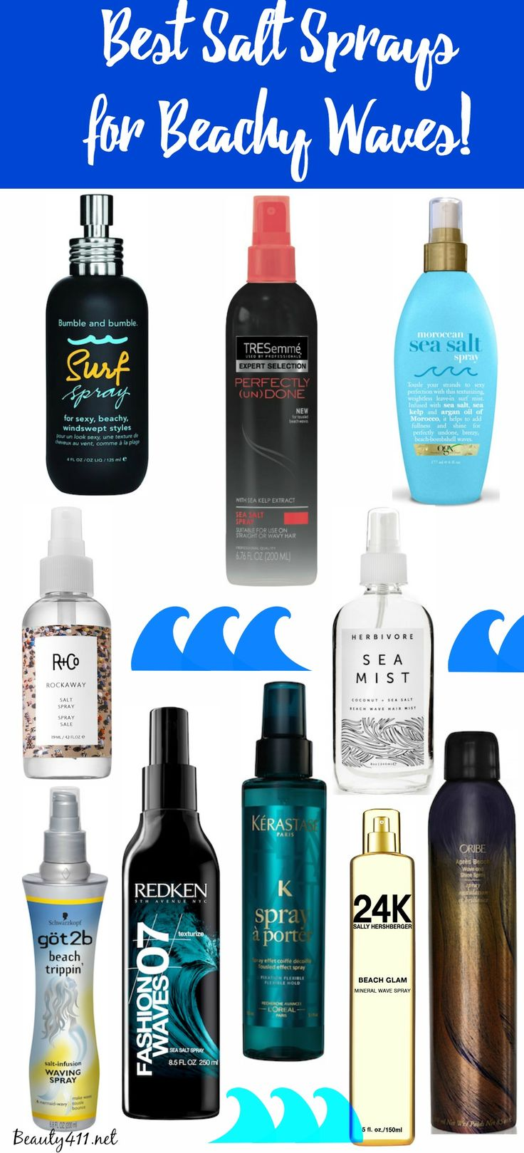 Mermaid hair don't care...Best Salt Sprays for Beachy Waves!