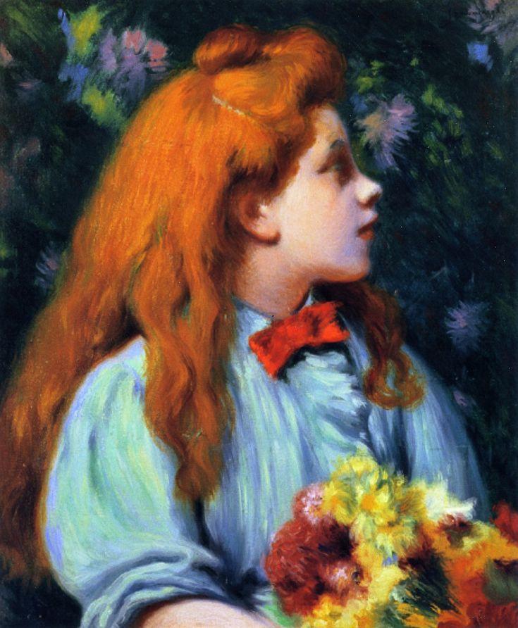 Girl with Flowers Federico Zandomeneghi