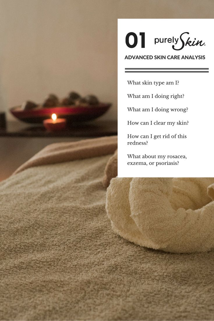 Your advanced skin care analaysis is step one to resolving issues including acne, rosacea, psoriasis, and exzema