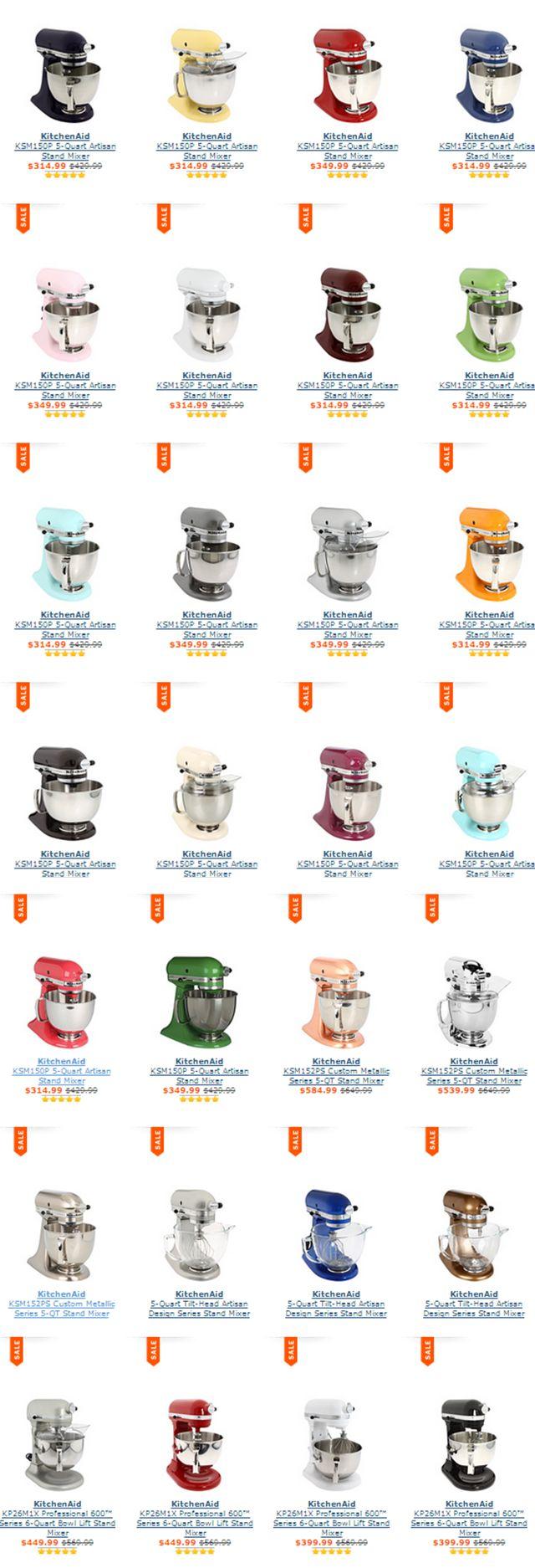 KitchenAid Artisan Design 5 & 6 Quart Mixers / On sale today http://rstyle.me/n/dchgwn2bn
