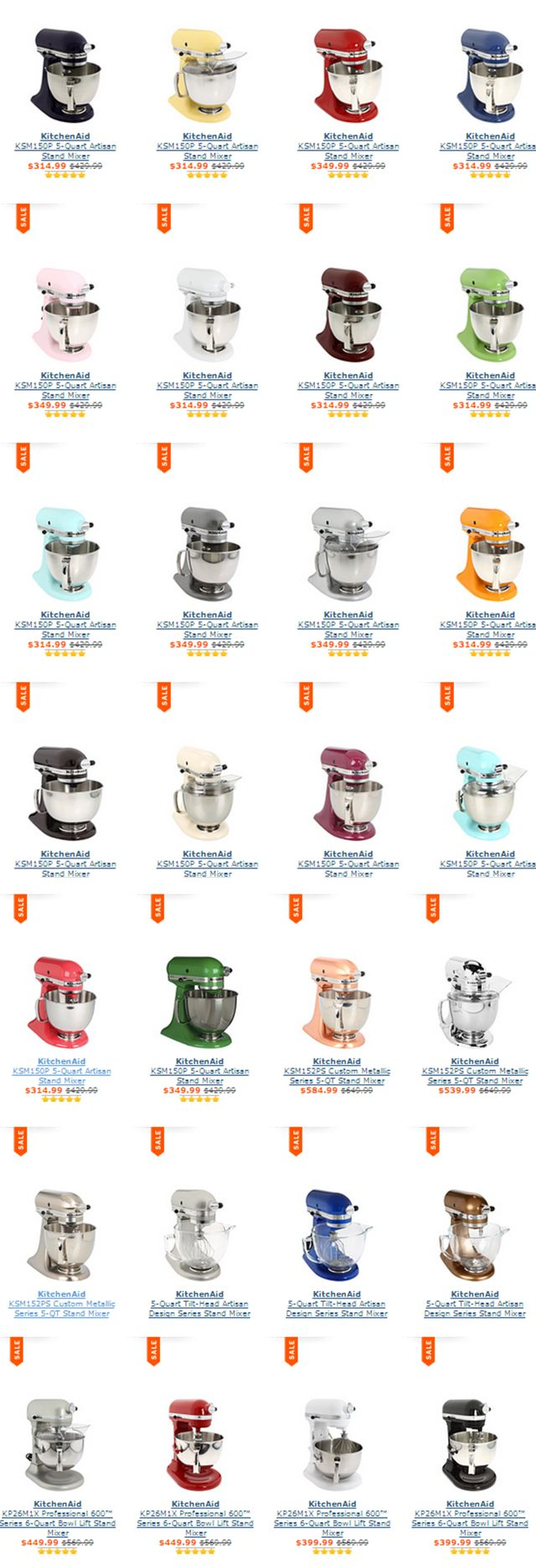 KitchenAid Artisan Design 5 & 6 Quart Mixers / On sale today http://rstyle.me/n/dchgwn2bn