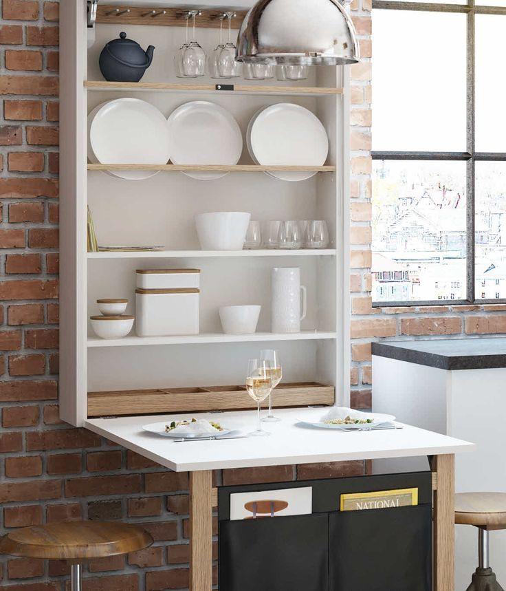 Schön Schrank Mit Ausklappbarem Tisch | Klapptisch küche