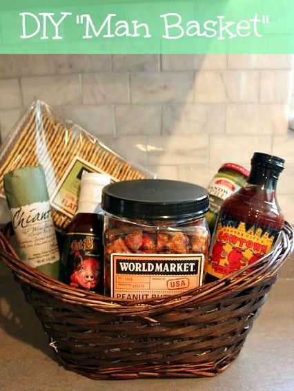 80 best great gift baskets images on pinterest basket ideas make your own man basket for the special guy in negle Image collections