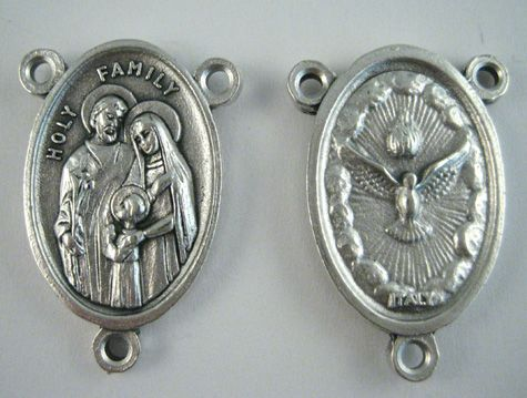 "Holy Family/Holy Spirit Rosary Center (Base Metal, 1"")  https://www.rosaryparts.com/pages/store/10Expand.asp?ProductCode=875BM"