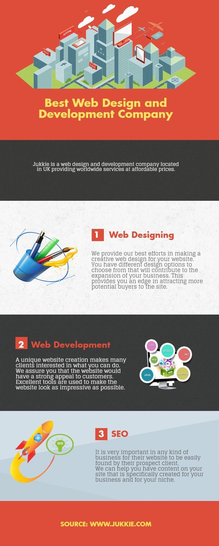 Get service from best web design and development company offers creative and high quality solutions in UK. Call us today at +44 20 3151 7830 or send a mail hello@jukkie.com!