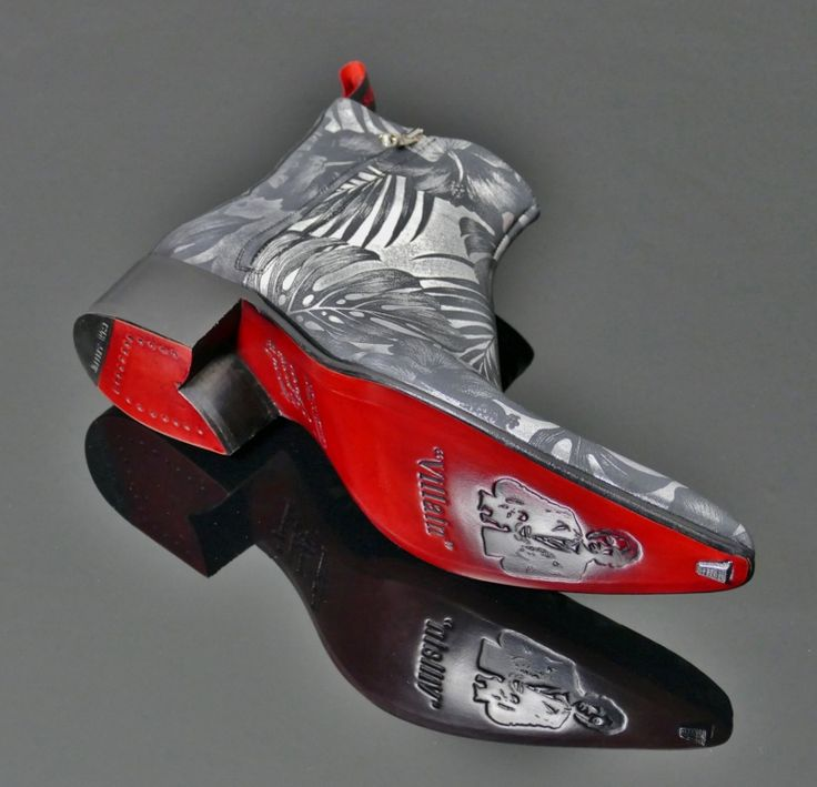 Rochester - 'Dodger' Jungle Print Skull Zip Boot