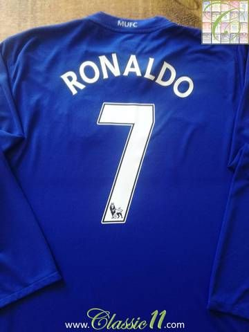 b0d3c81a76d Official Nike Manchester United 3rd kit long sleeve football shirt from the  2008 09 season. Complete with Ronaldo  7 on the back of the shirt in  official ...
