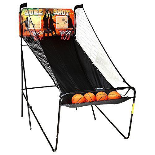 Electronic Basketball Game . Hathaway Sure Shot Dual Electronic Basketball Game. With 8 exciting game options, set up for one or two players, you'll find hours of enjoyment playing basketball. LED electronic scoring with built-in time clock and sound keeps track of the score and the game