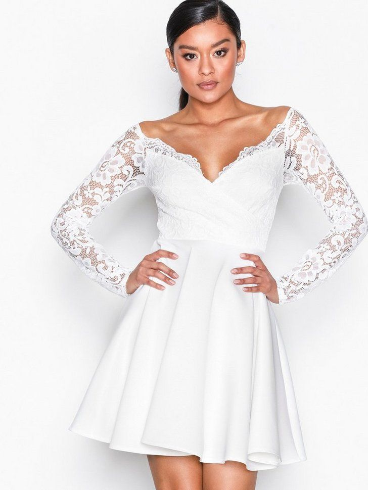 7a2e9bde78f0 Off Shoulder Lace Skater | Studentklänningar 2019 | Party dresses ...