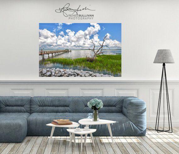 Hilton Head Daufuskie Island Fine Art Photo South Carolina Print Water Pier Marsh Extra Large Wall Decor Lowcountr Fine Art Photo Large Wall Decor Photo Canvas
