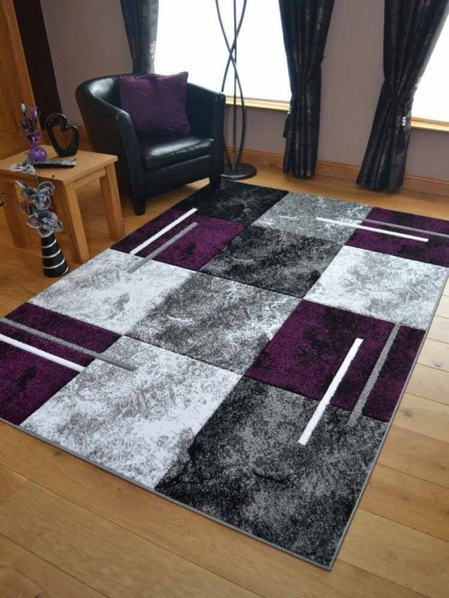 Purple Marble Area Rug