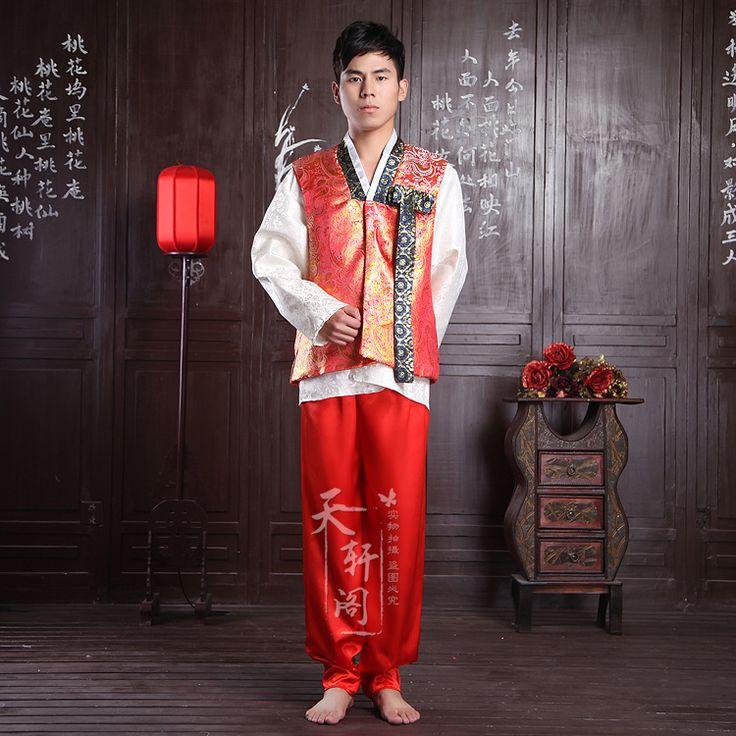 Koreaanse traditionele mannelijke bruiloft fengliu kostuum vest in  productshowomvat onder meer: de vest alleen( paars, hemelsblauw, oranje 3 kleuren voorzien.)  Verzend van op AliExpress.com | Alibaba Groep