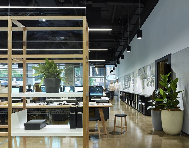 Interior Architecture Commendation – Woods Bagot Brisbane Studio by Woods Bagot. Photo by Scott Burrows.