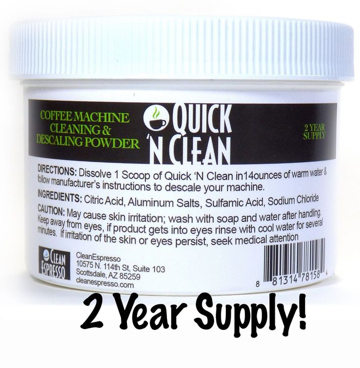 2 Year Supply Cleaner For Cuisinart Coffee Maker Descaling Solution Decalcifier