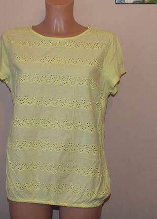 Kup mój przedmiot na #vintedpl http://www.vinted.pl/damska-odziez/bluzki-z-krotkimi-rekawami/11964696-zolta-azurkowa-bluzeczka-george-18-46-xxxl