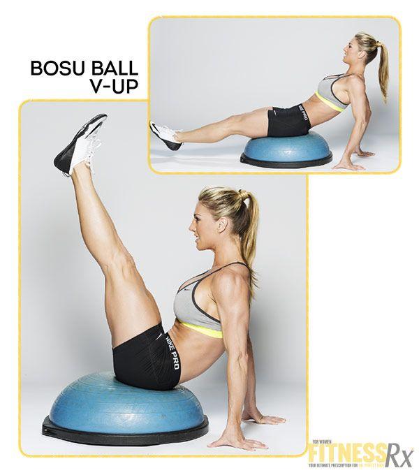 Fabulous Flat Abs With IFBB Bikini Pro Callie Bundy - BOSU Ball V-Up