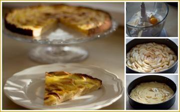 Jablečný koláč - křupavé těsto, měkká jablíčka a smetanová pokrývka (díky patří @budlina1 - vybráno z jejího alba plného dobrot)