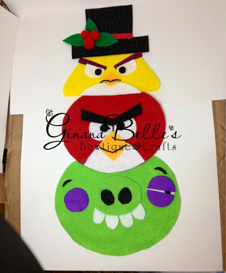 School Project Disguise A Snowman Angry Birds Style